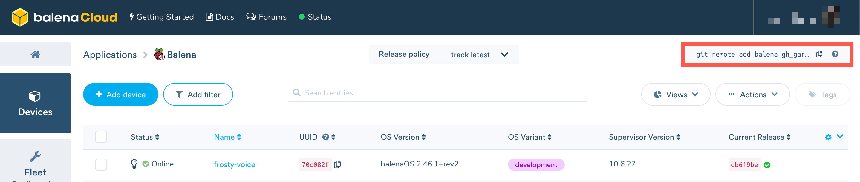 Deploy to your fleet - Balena Documentation